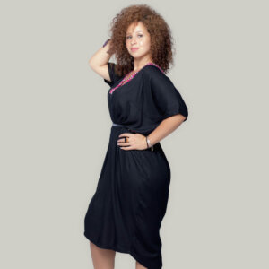 Robe noire wax Makeba