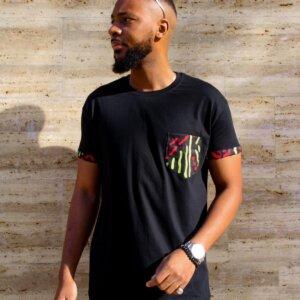 T-shirt noir wax